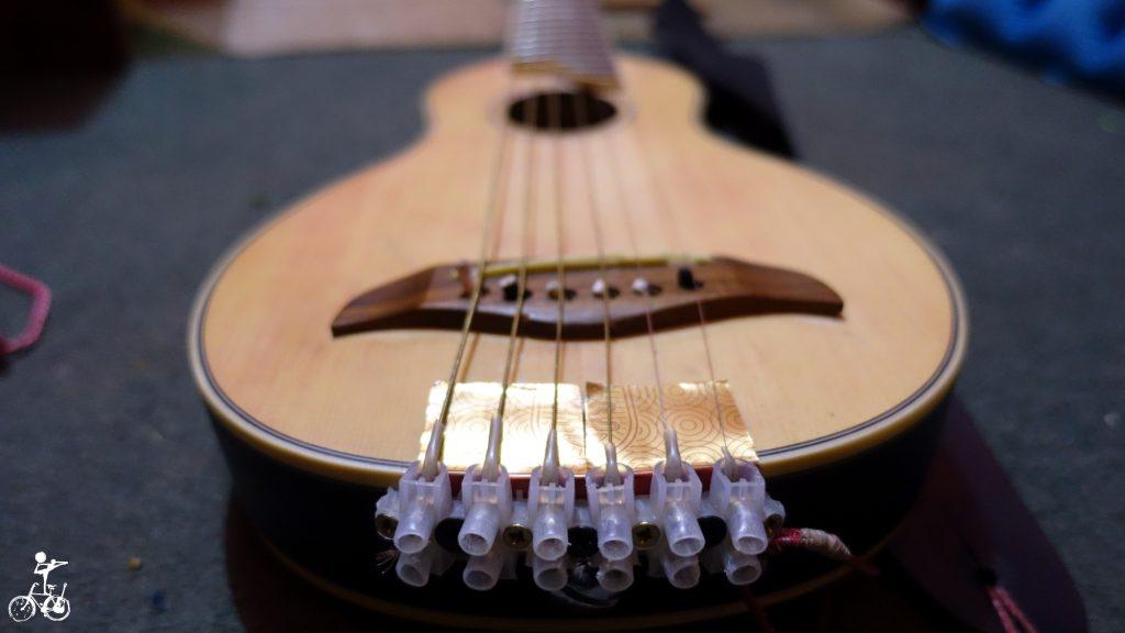 Gitarre nach Reparatur.